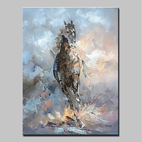 cheap Abstract Paintings-Mintura® Hand-Painted Abstract Horse Animal Oil Paintings On Canvas Modern Wall Art Picture For Home Decoration Ready To Hang With Stretched Frame