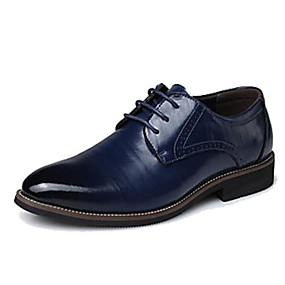 cheap Men's Oxfords-Men's Formal Shoes Leather / Cowhide Spring / Fall Oxfords Black / Yellow / Blue / Party & Evening / Split Joint / Party & Evening / EU40