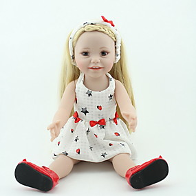 cheap Kids' Toys-NPKCOLLECTION NPK DOLL Reborn Doll Girl Doll Baby Girl 20 inch Silicone Vinyl - lifelike Cute Hand Made Child Safe Non Toxic Lovely Kid's Girls' Toy Gift / Parent-Child Interaction / CE Certified