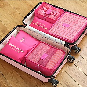 cheap Travel Bags-6 sets Travel Bag / Travel Organizer / Travel Luggage Organizer / Packing Organizer Large Capacity / Waterproof / Portable Bras / Clothes Oxford cloth Travel / Durable / Double Sided Zipper