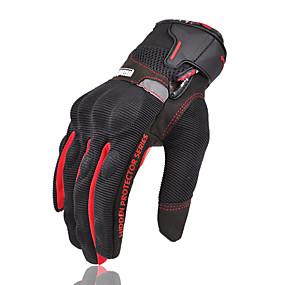 billige Spesialtilbud-full finger unisex utendørs riding madbike motocross motorsykkel hansker hansker pustende beskyttelse mad-04 nylon fiber non-slip / pusteevne / wearable