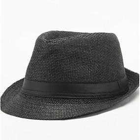 preiswerte Chapéu Cata Ovo/Bucket Hat-Herrn Retro,Baumwolle Sonnenhut Solide Sommer Weiß Schwarz Leicht Braun