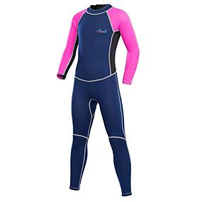 preiswerte Blue Dive®-Bluedive Jungen Mädchen Neoprenanzug 2mm Neopren Tauchanzüge warm halten UV-Sonnenschutz Rasche Trocknung Langarm Rückenverschluß - Schwimmen Tauchen Surfen Patchwork / Dehnbar / Kinder