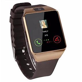 halpa Erityisiä hetkiä-Miesten Naisten Urheilukello Smartwatch Digitaalinen Watch Automaattinen itsevetävä Silikoni Musta  Bluetooth Kauko-ohjain Sekuntikello Digitaalinen Vapaa-aika Neliö Muoti - Valkoinen Musta Hopea