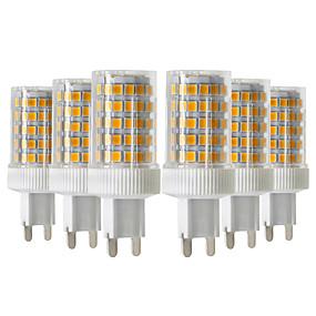 cheap LED Bi-pin Lights-6pcs 10W 900-1000lm G9 LED Bi-pin Lights 86LED 2835SMD  High Quality Ceramic Dimmable LED Light Bulb AC 220-240V