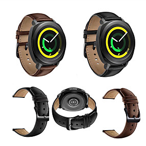 cheap Smartwatch Bands-Watch Band for Gear Sport Gear S2 Classic Huawei Watch 2 Samsung Galaxy Classic Buckle Genuine Leather Wrist Strap