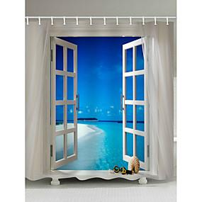 preiswerte Matten & Teppiche-Duschvorhänge & Ringe Moderne Polyester Neuheit Maschinell gefertigt Wasserfest