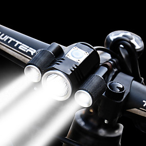 cheap Under €29-Bike Light Front Bike Light Headlight LED Bicycle Cycling Waterproof Multiple Modes Super Brightest Adjustable 1900 lm Rechargeable 18650 lithium battery White Cycling / Bike / Aluminum Alloy