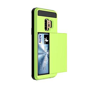 povoljno Maske za mobitele-Θήκη Za Samsung Galaxy S9 / S9 Plus / S8 Plus Utor za kartice Stražnja maska Jednobojni Tvrdo plastika