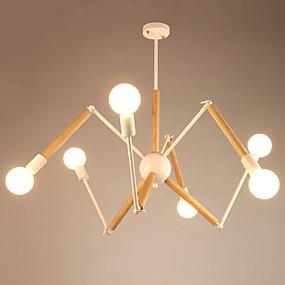 povoljno Lámpatestek-LightMyself™ 6-Light Lusteri / Privjesak Svjetla Ambient Light Slikano završi Metal Wood / Bamboo Black & White 110-120V / 220-240V Meleg fehér / Bijela Bulb Included / E26 / E27