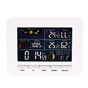 preiswerte Überwachung der Lieferungen-intelligenter Thermometerempfänger-Wecker Temperatur- und Feuchtigkeitssensor Hygrometer 1pack lcd an / weg Innenbüroküche nach Hause im Freien