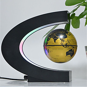 cheap Educational Toys-Floating Globe Maps Special Designed Magnetic Levitation Office Desk Toys Boys' Girls' Pieces A Grade ABS Plastic Toy Gift