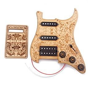 cheap Instrument Accessories-Professional Accessories High Class Electric Guitar New Instrument Wooden Copper wire Musical Instrument Accessories 28.5*22*2