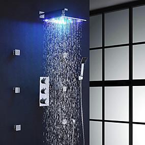 preiswerte Renovierung-Duscharmaturen - Moderne Chrom Wandmontage Messingventil Bath Shower Mixer Taps