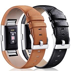 baratos Acessórios para Smartwatch-Pulseiras de Relógio para Fitbit Charge 2 Fitbit Fecho Clássico Couro Tira de Pulso