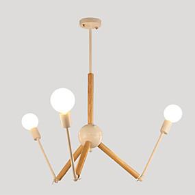 povoljno Lámpatestek-LightMyself™ 3-Light Lusteri Ambient Light Slikano završi Metal Black & White 110-120V / 220-240V Bulb Included / E26 / E27