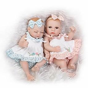 baratos Brinquedos-NPKCOLLECTION BONECA DE NPK Bonecas Reborn Boneca menina Bebês Meninas 10 polegada Silicone de corpo inteiro Silicone Vinil - Recém nascido realista Fofinho Á Mão Segura Para Crianças Non Toxic de