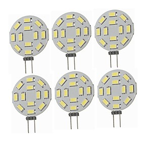 cheap LED Bi-pin Lights-6pcs 1.5 W LED Bi-pin Lights 360 lm G4 T 12 LED Beads SMD 5730 Decorative Warm White Cold White 12-24 V