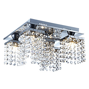 povoljno Lámpatestek-Lightinthebox 5-Light Kristal Flush Mount Ambient Light Electroplated Metal Crystal 110-120V / 220-240V Bulb Included / G9