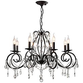 povoljno Lámpatestek-luster za svijeće lightmyself ™ / privjesak za osvjetljenje ambijentalnog osvjetljenja obložena metalnim kristalima 110-120v / 220-240v žarulja nije uključena / e12 / e14