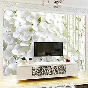 preiswerte Wand- & Ölbilder-Blumen Art Deco 3D Haus Dekoration Klassisch Modern Wandverkleidung, Segeltuch Stoff Klebstoff erforderlich Wandgemälde,