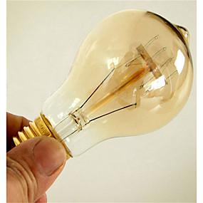 preiswerte Versandfertig in 24 Stunden-1pc 40W E26 / E27 A60(A19) Warmes Weiß 2300k Retro Abblendbar Dekorativ Glühbirne Vintage Edison Glühbirne 220-240V