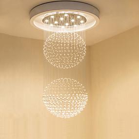 cheap Ceiling Lights & Fans-80cm(31.5inch) Crystal / LED Pendant Light Metal Crystal Electroplated Modern Contemporary 110-120V / 220-240V
