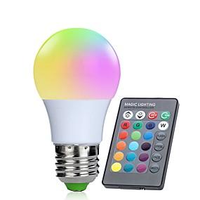 preiswerte 5% Rabatt-1pc 3 W Smart LED Glühlampen 250 lm E26 / E27 10 LED-Perlen SMD 5050 Infrarot-Sensor Abblendbar Ferngesteuert RGBW 85-265 V / RoHs / FCC