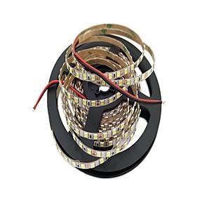 tanie Taśmy LED-5 m Elastyczne taśmy LED 600 Diody LED 2835 SMD 4mm 1 szt. Ciepła biel Biały Nadaje się do krojenia Dekoracyjna Odpowiednie do samochodu 12 V