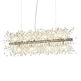 preiswerte 70% OFF-galvanisierte Leuchterfeuerwerk geführte helle Edelstahlkristallinsel-hängende Beleuchtung mit 12-Licht-Birnenbasis g9