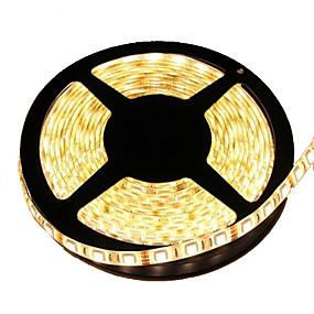cheap Light Strips & Strings-KWB 5M LED Light Strips Waterproof Tiktok Lights 72W 300*5050 SMD 10mm 4800LM Warm White Light LED Strip Lamp(DC12V)