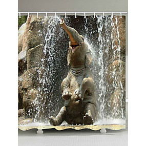 cheap Shower Curtains-Shower Curtains & Hooks Contemporary Country Polyester Animal Machine Made Waterproof