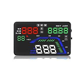 preiswerte Frontscheiben-Anzeigen-Q7 5.6 Zoll LED Mit Kabel LED-Anzeige / Plug-and-Play / Multifunktionsdisplay für Auto / Bus / Lastwagen Fahrgeschwindigkeit