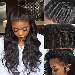 ราคาถูก Curly Lace Wigs-ผม Remy ไม่ได้เปลี่ยนแปลง มีลูกไม้ด้านหน้า วิก Rihanna สไตล์ ผมบราซิล ความหงิก ดำ วิก 130% Hair Density ผมเด็ก เส้นผมธรรมชาติ ไม่ได้เปลี่ยนแปลง บลัช สำหรับผู้หญิง Short ขนาดกลาง ยาว วิกผมแท้