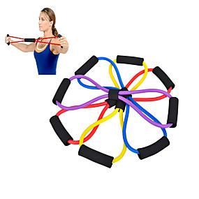 levne Pilates-venku odolný osmi Pull lano s pohodlnou rukojetí pro jógu