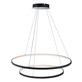 preiswerte Dimmbare Deckenleuchten-Ecolight™ 2-Licht Kreisförmig Pendelleuchten Raumbeleuchtung Lackierte Oberflächen Metall Acryl Abblendbar, LED 110-120V / 220-240V Wärm Weiß / Weiß / Wi-Fi Smart