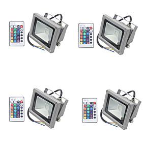 preiswerte Wand- & Ölbilder-4pcs 10 W LED Flutlichter / Leuchte für Rasenplatz Wasserfest / Abblendbar / Dekorativ RGB 85-265 V Außenbeleuchtung / Hof / Garten 1 LED-Perlen
