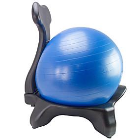 voordelige Pilates-Balance Ball Chair Voet pomp Trainingsbal / Yogabal 55cm Diameter PVC PE Wielen Stabiliteit Ergonomisch Fysiotherapie Evenwichtstraining Yoga Pilates Training&Fitness Voor Huis Kantoor