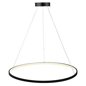 povoljno Lámpatestek-Ecolight™ Cirkularno Privjesak Svjetla Ambient Light Slikano završi Metal Acrylic LED 110-120V / 220-240V Bijela / Zatamnjen daljinskim upravljačem / Wi-Fi Smart