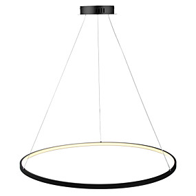 preiswerte Dimmbare Deckenleuchten-Ecolight™ Kreisförmig Pendelleuchten Raumbeleuchtung Lackierte Oberflächen Metall Acryl LED 110-120V / 220-240V Weiß / Dimmbar mit Fernbedienung / Wi-Fi Smart