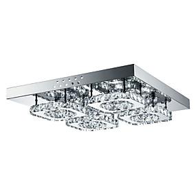 povoljno Stropna svjetla i ventilatori-4-Light Flush Mount Ambient Light Others Metal Crystal, LED 85-265V Bijela Uključen je LED izvor svjetlosti / Integrirano LED svjetlo