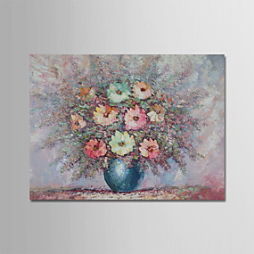 povoljno Slike za cvjetnim/biljnim motivima-Hang oslikana uljanim bojama Ručno oslikana - Sažetak Mrtva priroda Moderna Bez unutrašnje Frame / Valjani platno