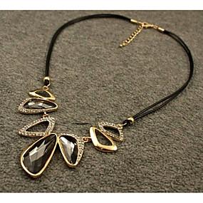 povoljno Nakit za vjenčanje i izlaske-Kristal Ogrlice s privjeskom Elegantno Legura Sive boje 45 cm Ogrlice Jewelry Za Vjenčanje Večer stranka
