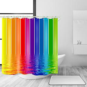 preiswerte Matten & Teppiche-Duschvorhänge & Ringe Moderne Modern Polyester Zeitgenössisch Neuheit Maschinell gefertigt Wasserfest Bad