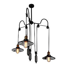 povoljno Lámpatestek-3-Light Klastera Lusteri Downlight Slikano završi Metal Mini Style, Prilagodljiv, Produžen 110-120V / 220-240V Bulb not included / FCC / E26 / E27