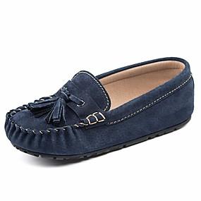 preiswerte Schuhe und Taschen-Jungen Komfort / Mokassin Schweineleder Loafers & Slip-Ons Kleinkind (9m-4ys) / Kleine Kinder (4-7 Jahre) Grau / Rot / Blau Frühling / Herbst