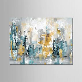 preiswerte Ölgemälde-Hang-Ölgemälde Handgemalte - Abstrakt Modern Ohne Innenrahmen / Gerollte Leinwand