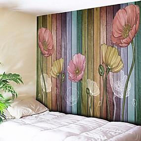 preiswerte Haus & Garten-Architektur Wand-Dekor Polyester Retro Wandkunst, Wandteppiche Dekoration