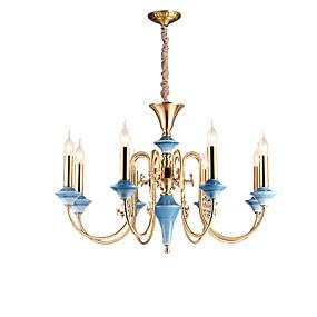 cheap Chandeliers-ZHISHU 8-Light 77 cm Mini Style / Candle Style Chandelier Metal Candle-style Brass Rustic / Lodge / Traditional / Classic 110-120V / 220-240V