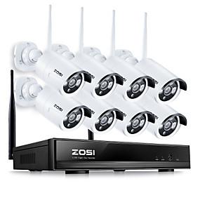povoljno Sigurnosni sustavi-zosi® 8ch cctv bežični 960p nvr 8pcs 1.3mp ir vanjski p2p wifi ip kamera detekcija pokreta vodootporan cctv sigurnosni sustav nadzorni set daljinski pristup dan i noć